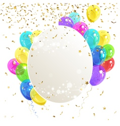 Banner with balloons vector