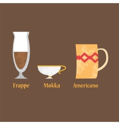 Set of coffe cups vector