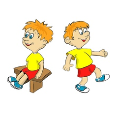 Cartoon sport boy vector