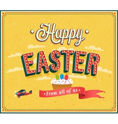 Happy easter typographic design vector