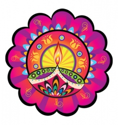 Indian light icon vector