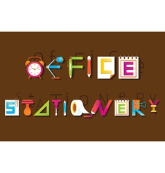 Office and stationery display text vector