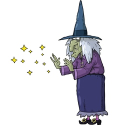 Witch conjures vector