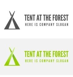 Modern camp badge logo emblem and logotype vector