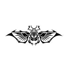 Scarab tribe tattoo vector