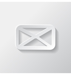 Letter icon email message sms vector