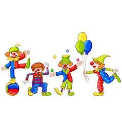 Playful clowns vector
