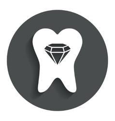 Broken tooth sign icon dental care symbol vector