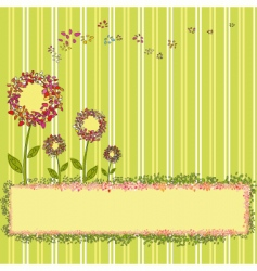 Springtime template vector