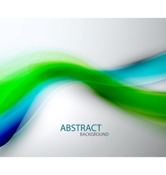 Blurred abstract blue green wave background vector