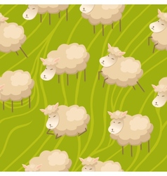 Seamless lamb background vector