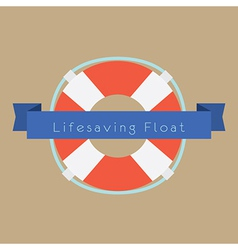 Life saving float ring vector