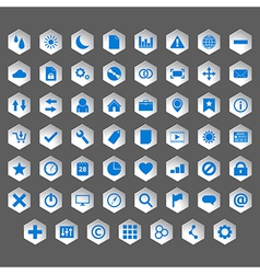 Icon set silver vector