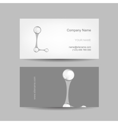 Business card design with letter l vector