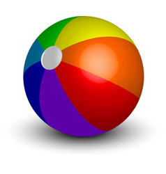 Inflatable beach ball vector