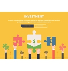 Concept business attraction of investments vector