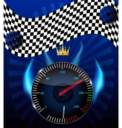 Checkered flag speedometer vector