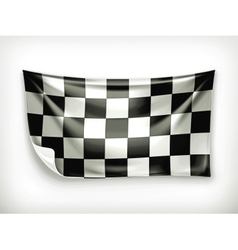 Checkered banner vector