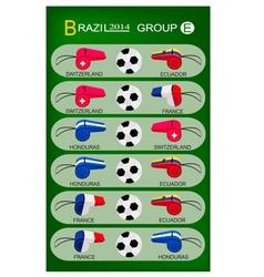 Soccer tournament of brazil 2014 group e vector