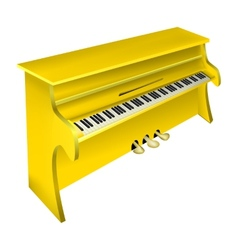 Yellow piano vector