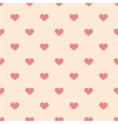 Tile cute pattern pink hearts pastel background vector