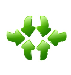 3d green arrows vector