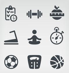 Fitness icon set vector