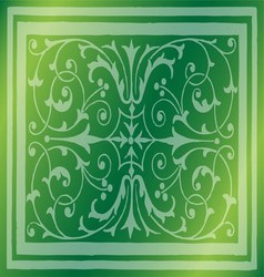 Abstract light green background of elegant vintage vector
