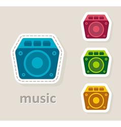 Misic dynamic speaker icon vector