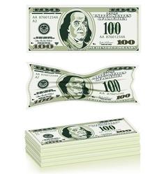 Set dollar bills vector