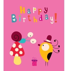 Happy birthday card 7 vector