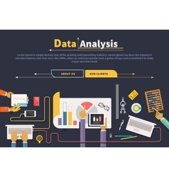 Concept of business data collection analysis vector