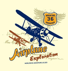 Airplane exploration vector