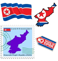 National colours of north korea vector