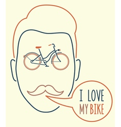 I love my bike vector