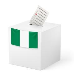 Ballot box with voting paper nigeria vector