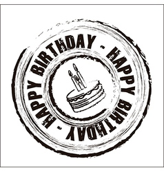 Birthday round seal vector
