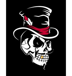 Skull in the cylinder vector