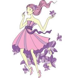 Beautiful iris girl vector