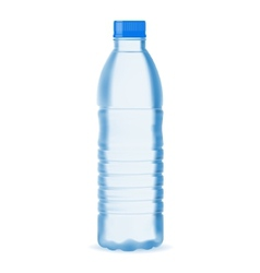 Small water bottle vector