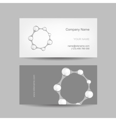 Business card design with letter o vector