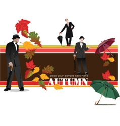 Autumn banner vector
