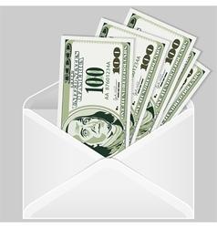 Open money envelope vector