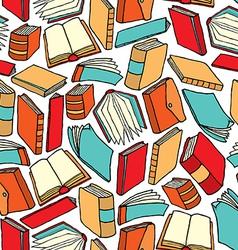 Cartoon texture of different books vector