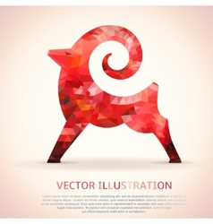 Geometric red shape of the goat vector