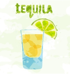 Tequila cocktail vector