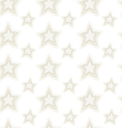 Seamless pattern of stars with hand embroidered vector