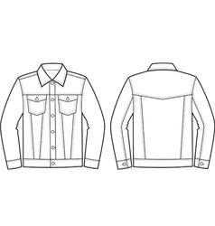 Jeans jacket vector