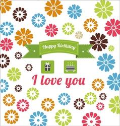 Birthday elements set vector