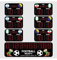 Scoreboard football tournament vector